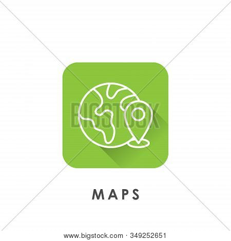 Maps. Maps icon. Maps vector. Maps icon vector. Maps logo. Maps symbol. Maps web icon. Mapping vector. Maps icon isolated flat on white background. Maps icon simple sign for logo, web, app, UI. Trendy Maps icon flat vector illustration. stock photo