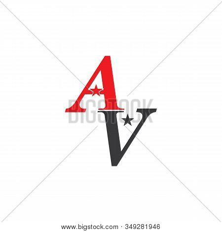 A,V,AV Letter Logo Template vector illustration icon stock photo