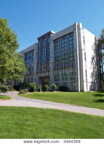 Moyer Hall on the campus of Muhlenberg College in Allentown Pennsylvania stock photo