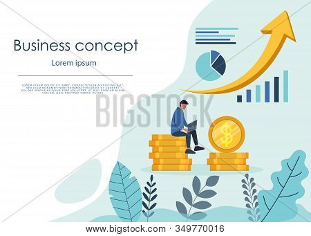 Infographic business arrow shape template design. Business building to success concept. Business vector illustration. Business graphic or web business design layout. stock photo