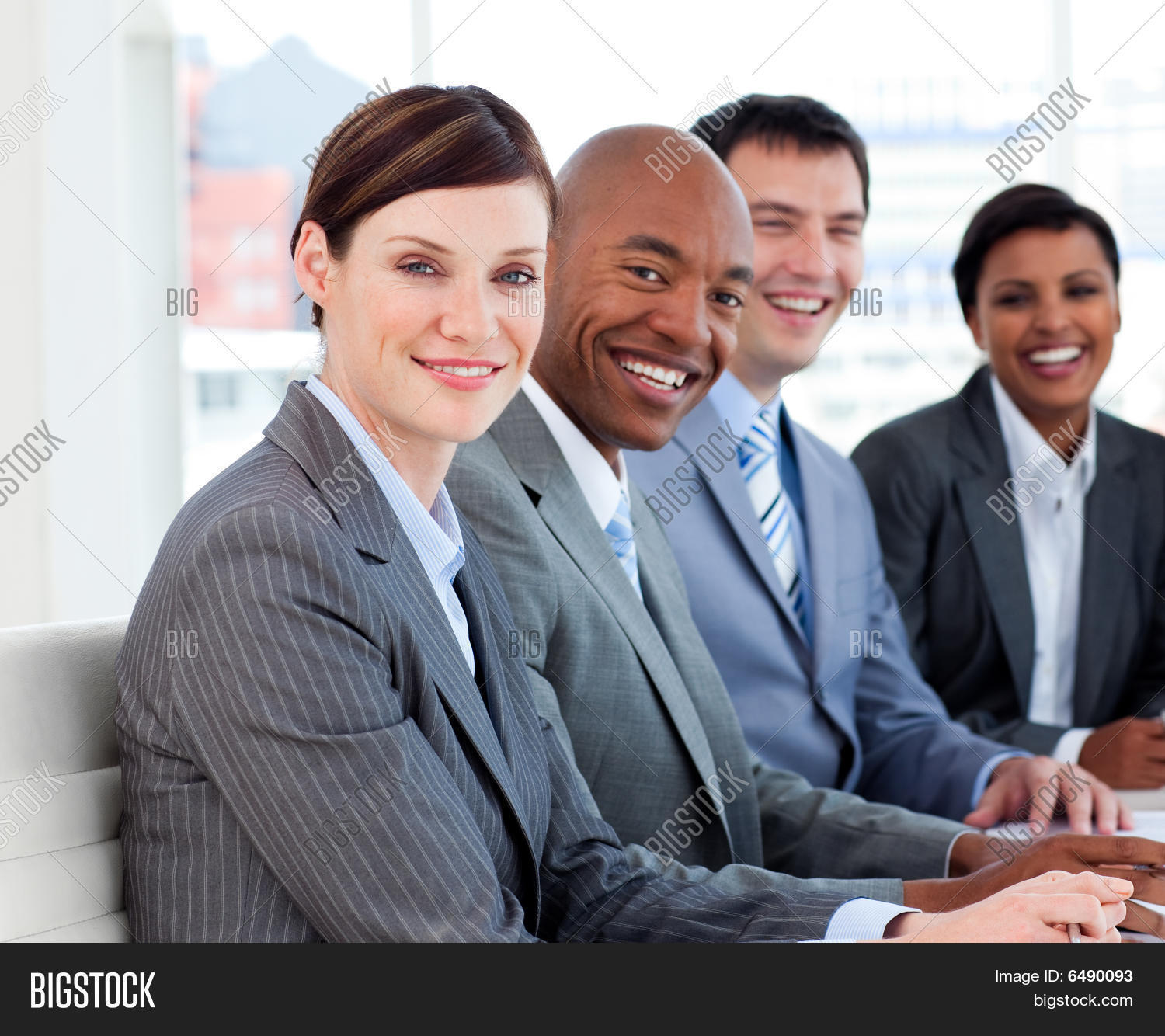 Multi-ethnic Business Team In A Meeting