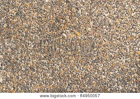 The surface roughness of the stone walls turnovers. stock photo