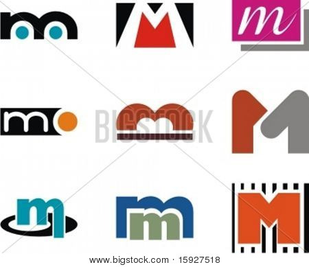 Alphabetical Logo Design Concepts. Letter M. Check my portfolio for more of this series. stock photo