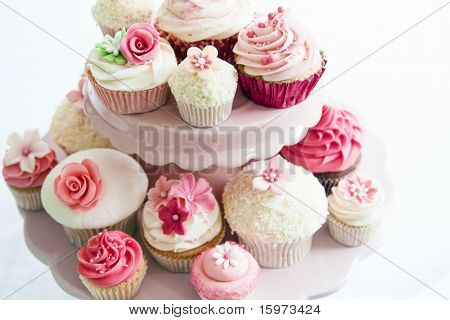 Cupcake selection stock photo