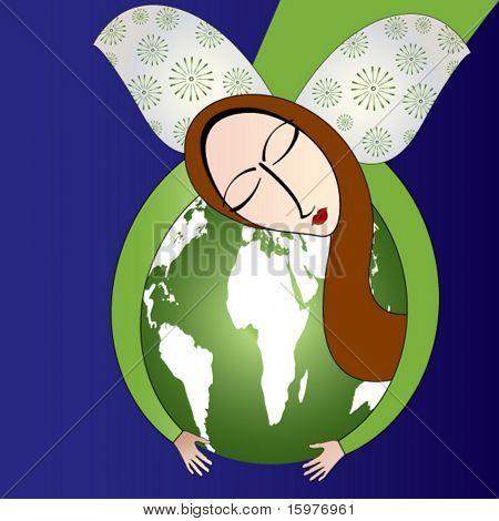 Earth Angel stock photo