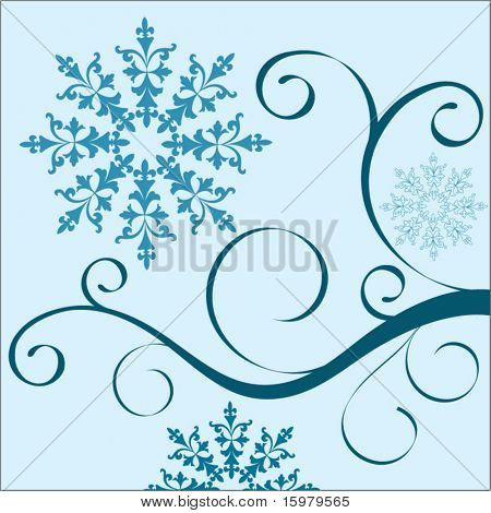 vine in pieces with fleur delis organic shape stock photo