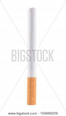 The cigarette isolated on a white background stock photo