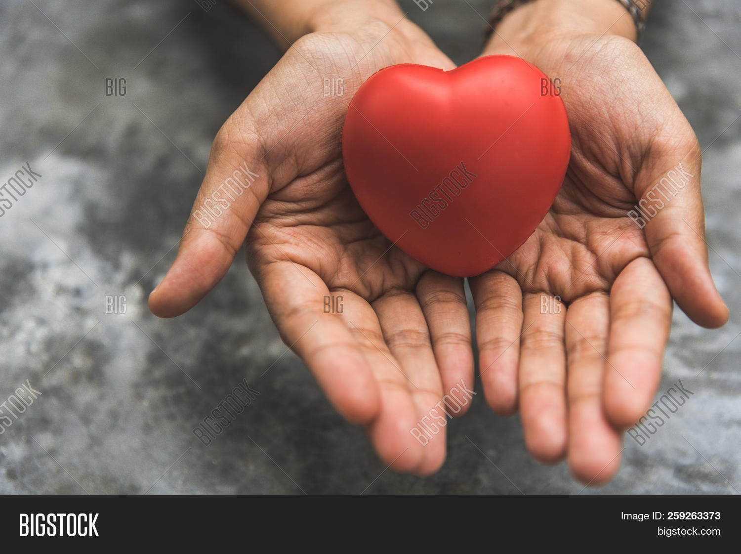 Close Up Female Hands Giving Red Heart As Heart Donor. Valentine Day Of Love Concept. Medical Ventil