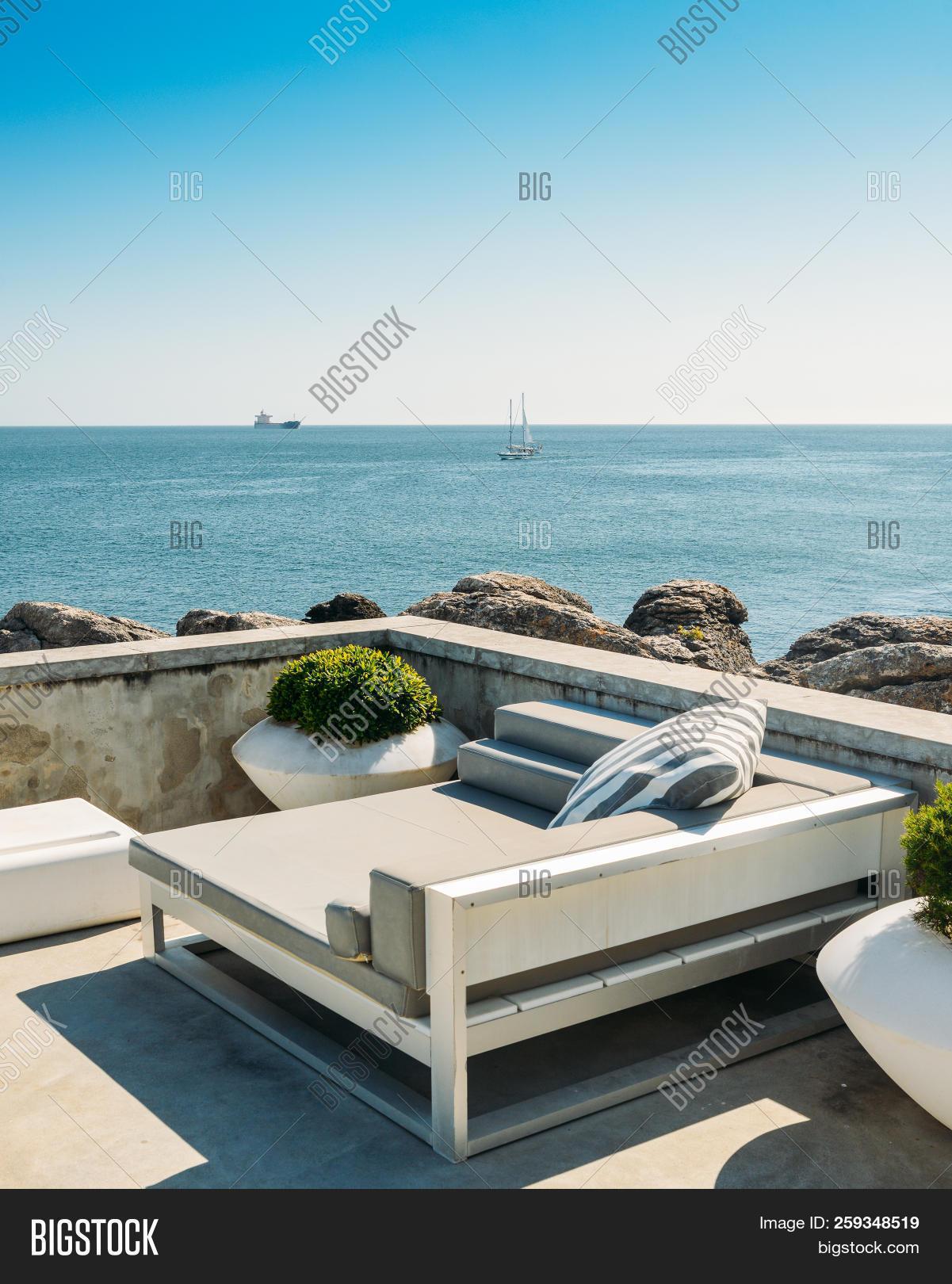 #antibes ... & ▷ Outdoor Cabana Beds On A Rooftop Overlooking A Tropical Ocean ...