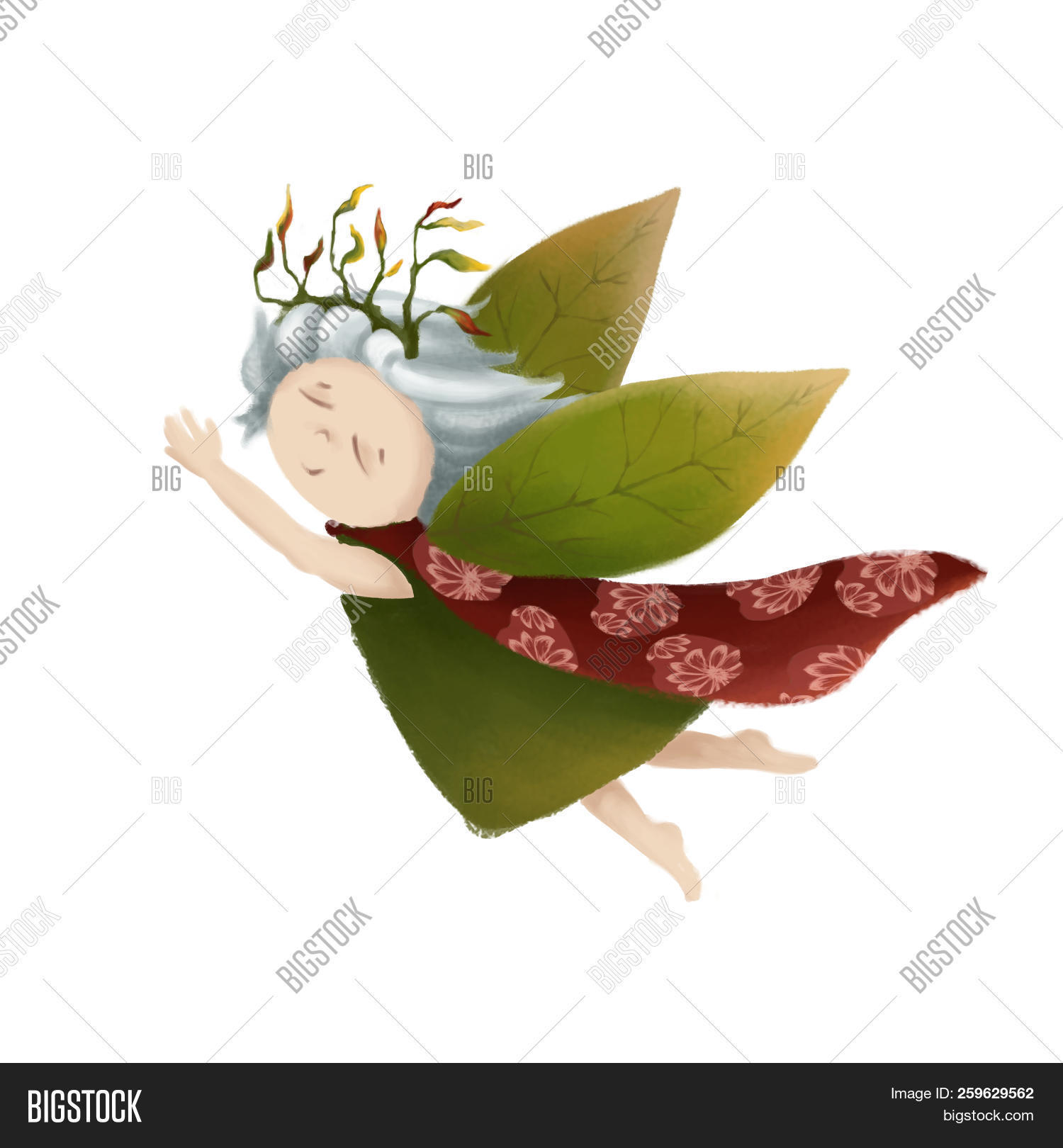 autumn,baby,barefoot,book,cartoon,character,child,childrens,cloak,cute,dress,elf,fairy,fairy-tale,flies,flight,flying,forest,girl,green,illustration,leaf,magic,nymph,person,princess,raincoat,red,sorceress,spring,summer,tale,wings