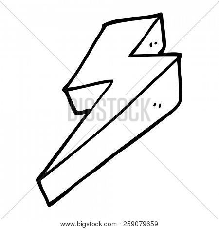 line drawing cartoon thunder bolts stock photo