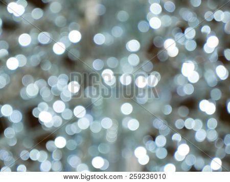 Christmas boche background. Beautiful boche silver background. stock photo
