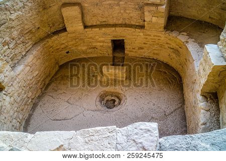 The Balcony House in Mesa Verde National Park, Colorado stock photo