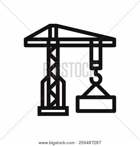 Crane icon isolated on white background. Crane icon in trendy design style. Crane vector icon modern and simple flat symbol for web site, mobile, logo, app, UI. Crane icon vector illustration, EPS10. stock photo