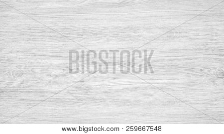 White Wood Texture Background. Light Wooden Table With A Crack. Surface Of Wood With Nature Color An