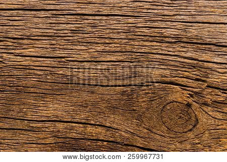 Wood Texture Of Brushed Pine Boards With Knots. Abstract Background With Wood Pattern. Distressed Wo