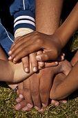 Human hands indicating solidarity