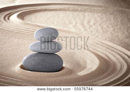 Spa treatment concept japanese zen garden stones tao buddhism conceptual for balance harmony relaxat