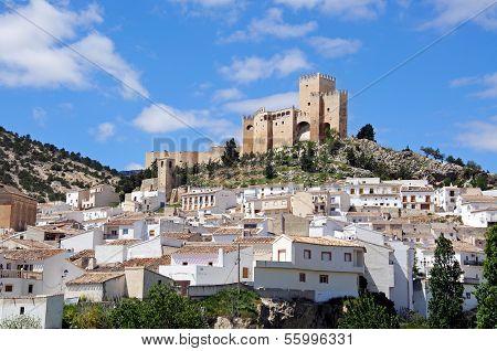 White village with castle, Velez Blanco.