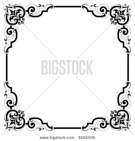 Stock Photo of Elegant Scroll Frame, Royalty-Free Images ...