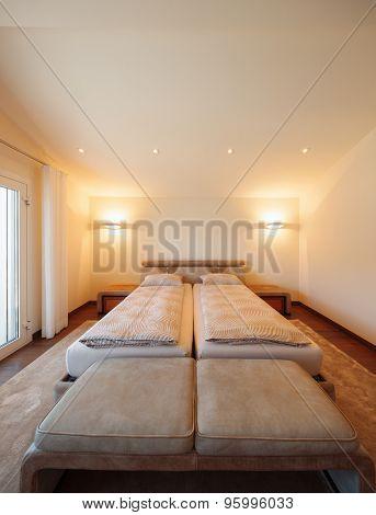 Architettura di interni, camera da letto, nobody inside stock photo