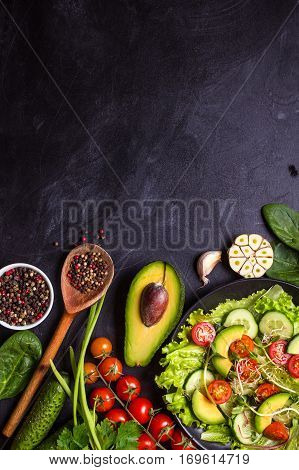 Ingredients For Making Salad-Lg Fridge Magnet Skin (size 36x65)