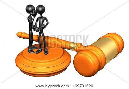 Law Legal Concept With The Original 3D Characters Illustration Hearsay stock photo