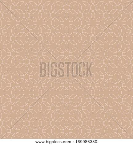 Neutral Seamless Linear Pattern. Tileable Geometric Outline Ornate. Vintage Flourish Vector Background. Pale dogwood color. stock photo