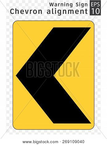 Road Sign. Warning. ruck rollover warning with speed advisory, Maryland.  Vector Illustration on Transparent Background stock photo