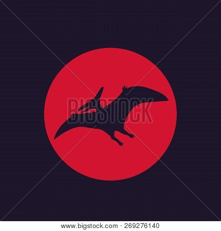 dinosaur, pterodactyl, pteranodon vector, eps 10 file, easy to edit stock photo