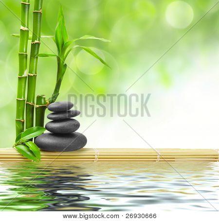 Pierres de basalte spa concept zen