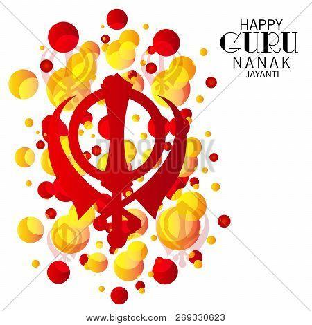 illustration of a background for Happy Guru Nanak Jayanti. stock photo
