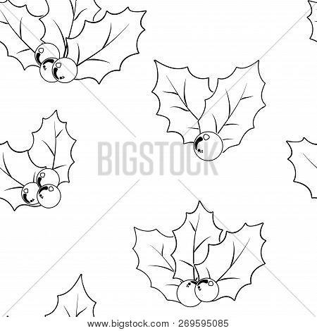 Cowberry vector illustration, berries images. Doodle cowberry vector illustration in red and green color. Cowberry berries images for menu, package design. Vector berries images of cowberry stock photo