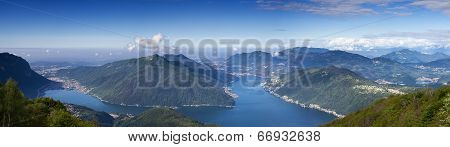 Balcony of Italy - Panorama of Lake Lugano Lombardia Italy