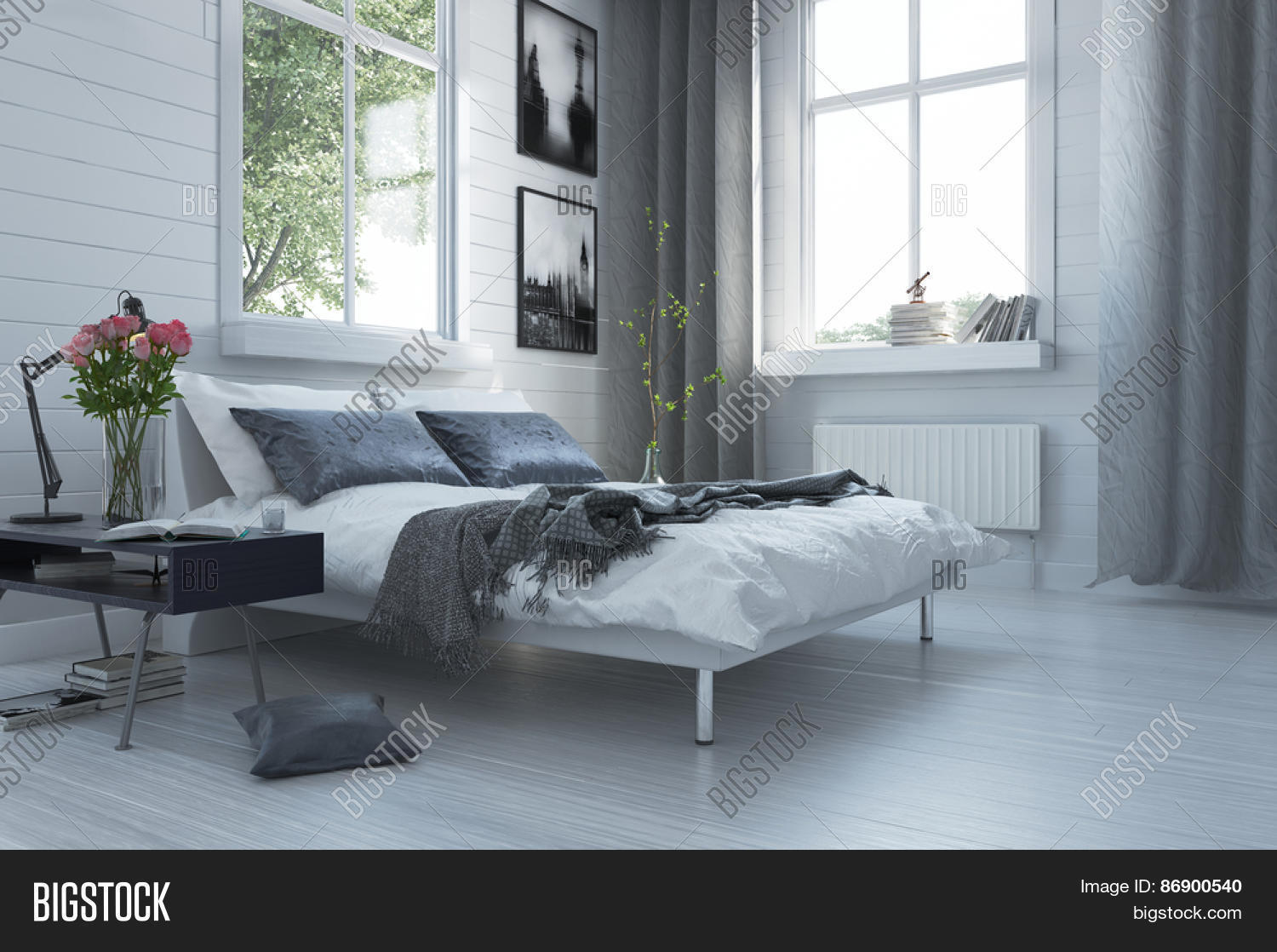 Modern Interieur Wit : 🔥 luxury grey and white modern bedroom interior with a contemporary