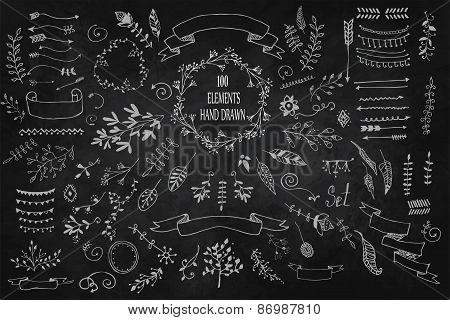 Set Hand Drawn elements