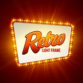Shining retro light standard. Vector representation