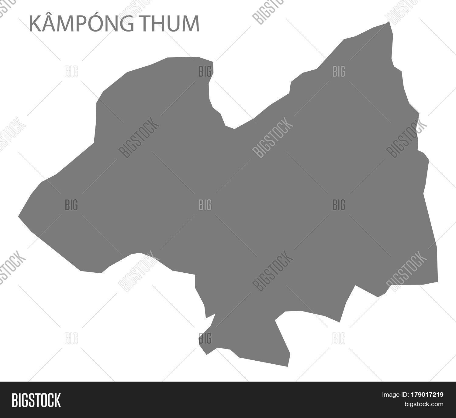 Kampong,Thum,administrative,area,border,cambodia,country,county,department,design,districts,division,flat,graphic,grey,illustration,isolated,map,modern,new,province,region,regional,shape,silhouette,simple,state,territory,trip