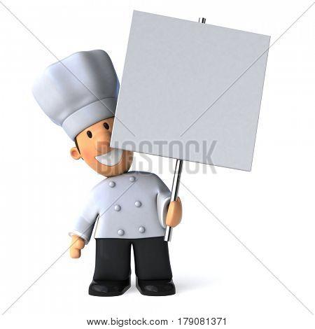 Fun chef - 3D Illustration stock photo