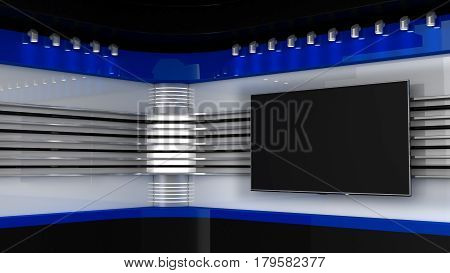 Tv Studio. Red Studio. Backdrop For Tv Shows .tv On Wall. News Studio. The Perfect Backdrop For Any