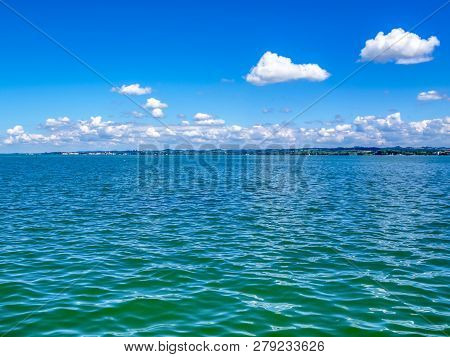 Lake Constance, Bodensee view in Bregenz, Austria on a sunny June day stock photo