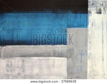 Gris et bleu sarcelle art abstrait peinture