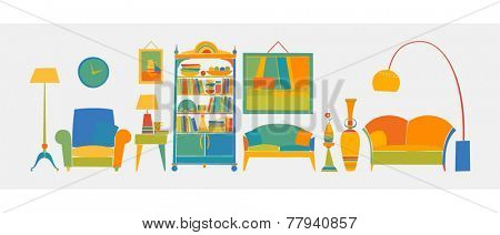 Banner concept - home furniture, lighting and furnishings