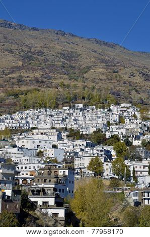 Trevelez town in Sierra Nevada Granada, spain stock photo