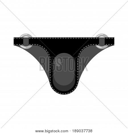 Leather briefs isolated. Latex Fetish clothing. Sexy toy for adults stock photo