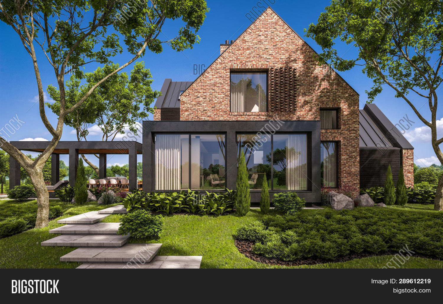3D,architecture,beautiful,bricks,building,chalet,clinker,concept,construction,contemporary,country,day,design,dwelling,entrance,estate,expensive,exterior,garage,garden,grass,green,home,house,housing,illustration,landscape,lawn,lifestyle,luxury,modern,new,outdoor,patio,perspective,pond,project,property,realty,rendering,residential,roof,sky,stock,stone,terrace,trees,view,villa,wood
