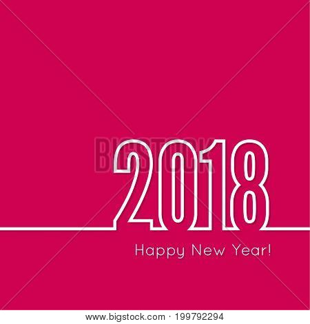 Happy new year 2018 theme. for greeting card, flyer, invitation, poster, brochure, banner, calendar, Christmas Meeting events Vector new year 2018