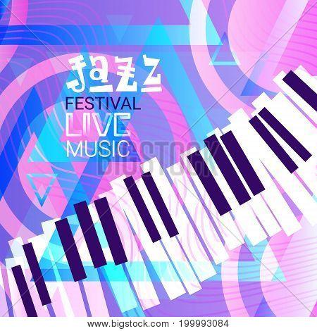 Jazz Festival Live Music Concert Poster Advertisement Banner Vector Illustration stock photo