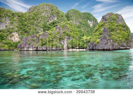 Beau paysage à el nido, palawan, philippines